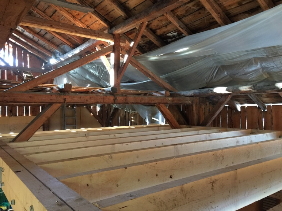New floor under the old roof