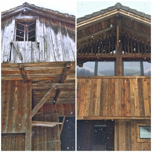 Barn renovation before and after